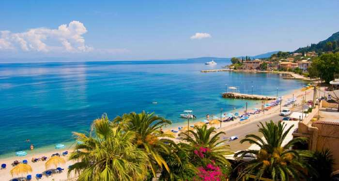 Отдых на острове Корфу - ухоженные песчаные пляжи