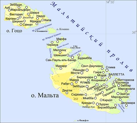 Отдых на Мальте - Карта Мальты