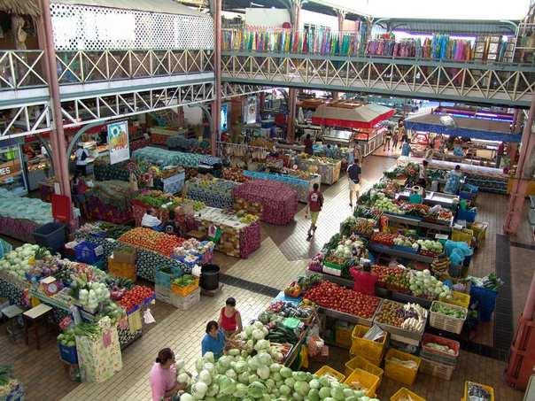 Острова Французской Полинезии - Центральный рынок в Папеэте