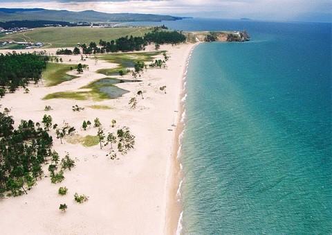 Отдых на острове Ольхон - песчаное побережье