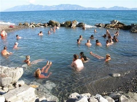 Отдых на островах Греции, остров Кос, термальный источник