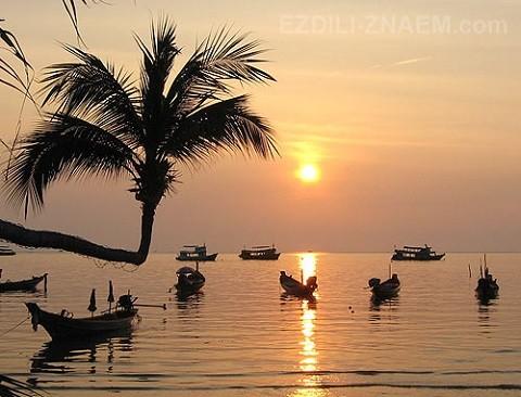 Отдых на островах Тайланда, чудесные закаты острова Тао